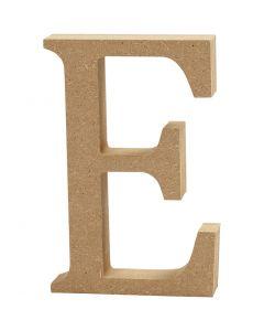 Bokstav, E, H: 8 cm, tjocklek 1,5 cm, 1 st.