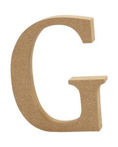 Bokstav, G, H: 8 cm, tjocklek 1,5 cm, 1 st.