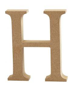 Bokstav, H, H: 8 cm, tjocklek 1,5 cm, 1 st.