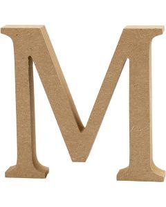 Bokstav, M, H: 8 cm, tjocklek 1,5 cm, 1 st.
