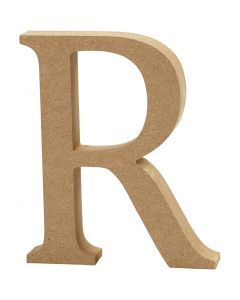 Bokstav, R, H: 8 cm, tjocklek 1,5 cm, 1 st.