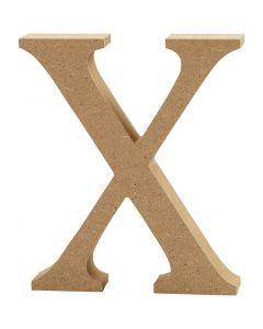 Bokstav, X, H: 8 cm, tjocklek 1,5 cm, 1 st.