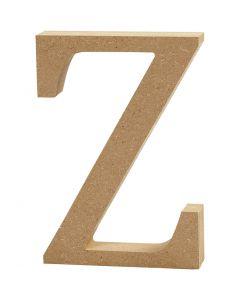 Bokstav, Z, H: 8 cm, tjocklek 1,5 cm, 1 st.