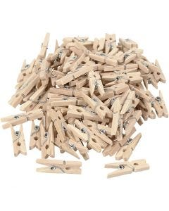 Klädnypor, L: 25 mm, B: 3 mm, 100 st./ 1 förp.