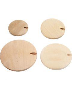 Träknappar/pärla, Dia. 20-35 mm, 320 st./ 1 förp.
