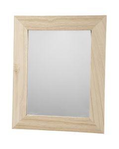 Spegel, stl. 26x32 cm, 1 st.