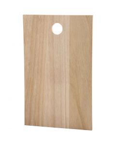 Träplatta, stl. 35x22 cm, tjocklek 13 mm, 1 st.
