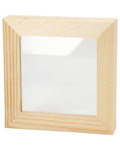 3D ram, djup 2,5 cm, stl. 12,3x12,3 cm, 1 st.