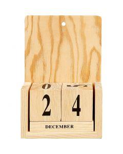 Kalender med datum, stl. 13x5,5x19,2 cm, 1 set