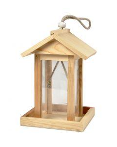 Fågelbord/hus, H: 21.5 cm, L: 14.5 cm, B: 14,5 cm, 1 st.