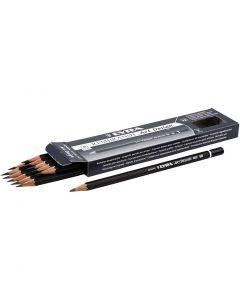 Art Design blyertspennor, Dia. 6,9 mm, hårdhet 5B, kärna 1,8 mm, 12 st./ 1 förp.