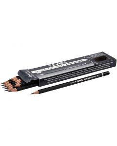 Art Design blyertspennor, Dia. 6,9 mm, hårdhet 4B, kärna 1,8 mm, 12 st./ 1 förp.