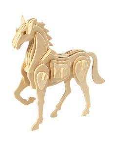 3D Pussel, Häst, stl. 18x4,5x16 cm, 1 st.
