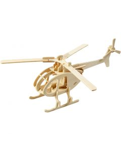 3D Pussel, Helikopter, stl. 26,5x14x26 cm, 1 st.