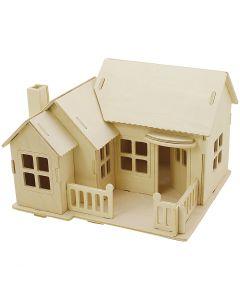 3D Pussel, Hus med terass, stl. 19x17,5x15 , 1 st.