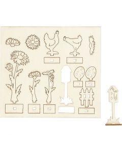Sätt-ihop-själv träfigurer, L: 15,5 cm, B: 17 cm, 1 förp.