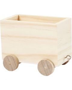 Tågvagn, H: 8 cm, L: 9,5 cm, B: 6,5 cm, 1 st.