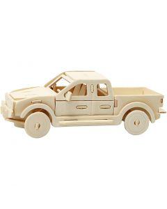 3D konstruktionsfigur, pickup, stl. 19,5x8x12 cm, 1 st.