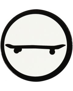 Kartongetikett, skateboard, Dia. 25 mm, vit/svart, 20 st./ 1 förp.
