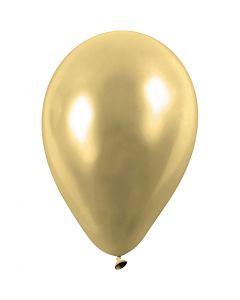 Ballonger, runda, Dia. 23 cm, guld, 8 st./ 1 förp.