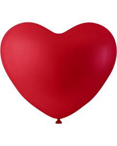 Ballonger, hjärtan, röd, 8 st./ 1 förp.
