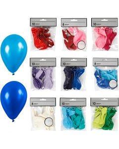 Ballonger, mixade färger, 30 förp./ 1 förp.