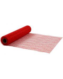 Bordslöpare, B: 30 cm, röd, 10 m/ 1 rl.