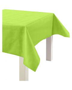 Duk av imiterat tyg, B: 125 cm, 70 g, limegrön, 10 m/ 1 rl.
