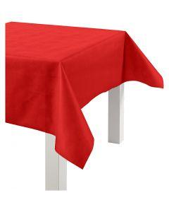 Duk av imiterat tyg, B: 125 cm, 70 g, röd, 10 m/ 1 rl.
