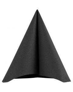 Servetter, stl. 40x40 cm, 60 g, svart, 20 st./ 1 förp.