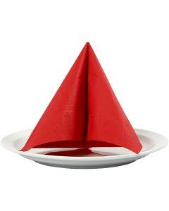 Servetter, stl. 33x33 cm, röd, 20 st./ 1 förp.