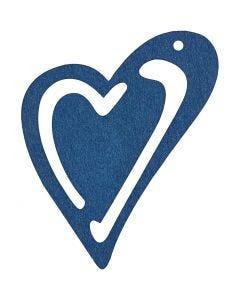 Skevt hjärta, stl. 55x45 mm, mörkblå, 10 st./ 1 förp.