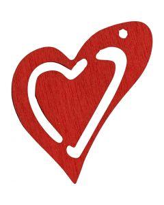 Skevt hjärta, stl. 25x22 mm, röd, 20 st./ 1 förp.