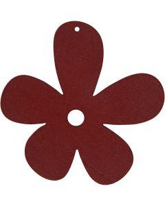 Blommor, stl. 57x51 mm, vinröd, 10 st./ 1 förp.