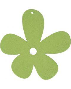 Blommor, stl. 57x51 mm, limegrön, 10 st./ 1 förp.