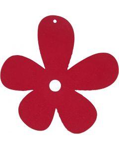 Blommor, stl. 57x51 mm, mörkrosa, 10 st./ 1 förp.
