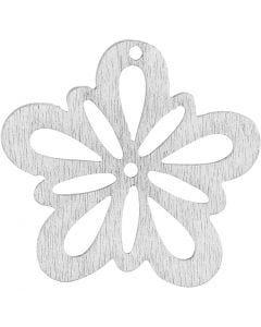 Blommor, Dia. 27 mm, vit, 20 st./ 1 förp.