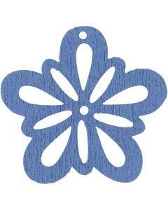 Blommor, Dia. 27 mm, ljusblå, 20 st./ 1 förp.