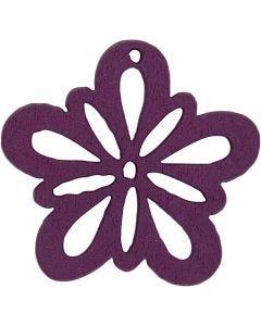 Blommor, Dia. 27 mm, mörklila, 20 st./ 1 förp.