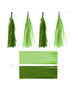 Tofs, stl. 12x35 cm, 14 g, mörkgrön/lime, 12 st./ 1 förp.