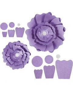 Pappersblommor, Dia. 15+25 cm, 230 g, lila, 2 st./ 1 förp.