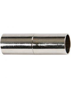 Magnetlås, L: 23 mm, Hålstl. 6 mm, försilvrad, 2 st./ 1 förp.