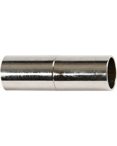 Magnetlås, L: 20 mm, Hålstl. 5 mm, försilvrad, 2 st./ 1 förp.