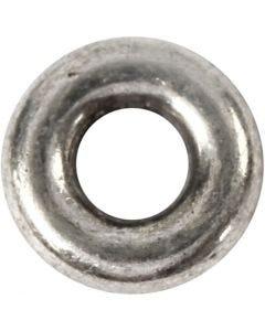 Ledpärla, Dia. 9 mm, Hålstl. 4 mm, antiksilver, 15 st./ 1 förp.
