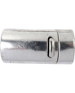 Magnetlås, Dia. 26 mm, Hålstl. 10 mm, antiksilver, 1 st.