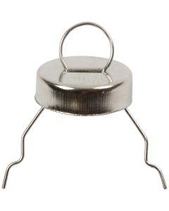 Upphängningskrokar, Dia. 13 mm, Hålstl. 5 mm, silver, 25 st./ 1 förp.