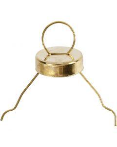 Upphängningskrokar, guld, 25 st./ 1 förp.