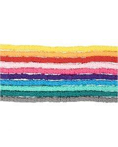 Lerpärlor, Dia. 5-6 mm, Hålstl. 2 mm, mixade färger, 10x145 st./ 1 förp.