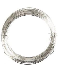 Försilvrad tråd, tjocklek 0,8 mm, försilvrad, 6 m/ 1 rl.