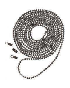 Kulkedja, Dia. 1,5 mm, mörkmetallicgrå, 1 m